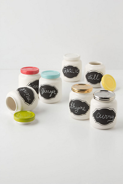 Chalkboard Spice Jars from Anthropologie
