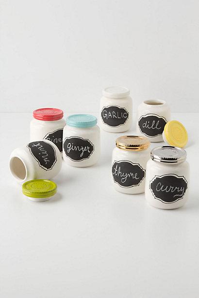 Chalkboard Spice Jars from Anthropologie