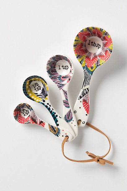 Pop Art Measuring Spoons from Anthropologie