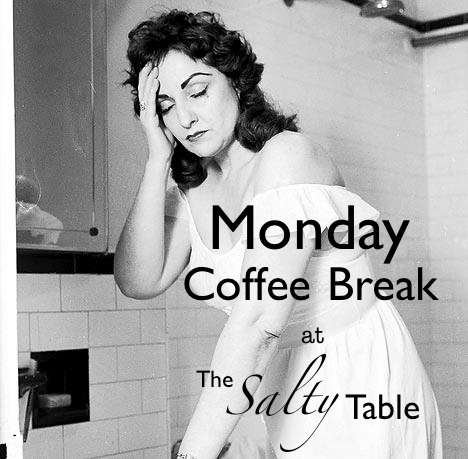 monday coffee break salty table