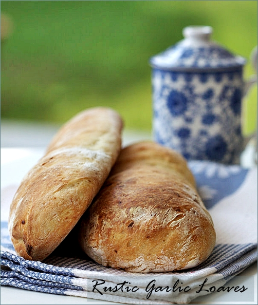 Rustic Garlic Loaves from Passionate About Baking