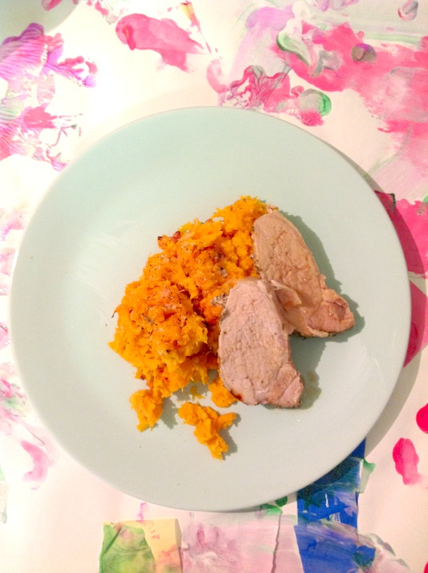 sweet potato gratin with pork